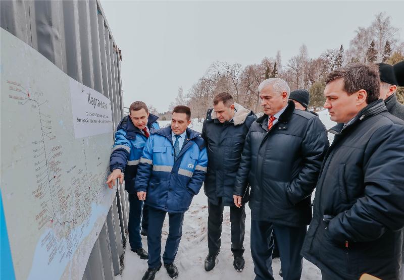 Строительство газопровода в Заволжье