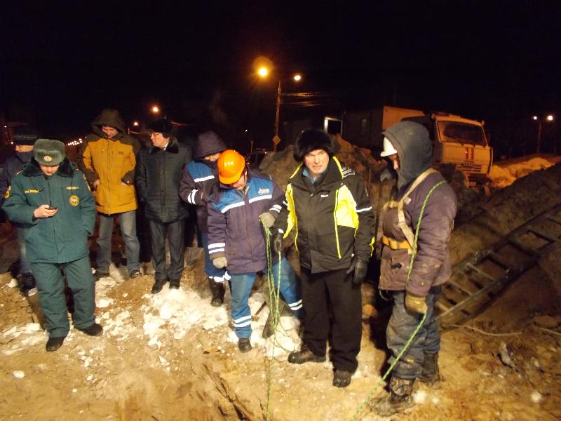 Авария на газопроводе в микрорайоне