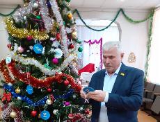Вручение новогодних подарков